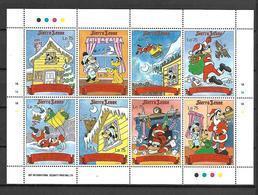 Disney Sierra Leone 1990 Cristmas Sheetlet #2 MNH - Disney