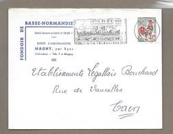 DOCUMENT Commercial ENVELOPPE 1963.. FONDOIR De BASSE NORMANDIE, Route D'Arromanches à MAGNY Par RYES (Calvados 14) - 1950 - ...