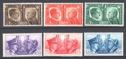 Italia Regno 1941 Sass.452/57 **/MNH VF - Ungebraucht