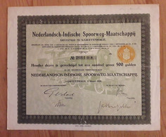 Indonesia : Nederlandsch - Indische Spoorweg Maatschappij - DFl.500 - 1920 - Railway & Tramway