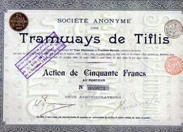 Tramways De Tiflis (Géorgie) En 1907 - Railway & Tramway