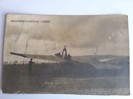 Carte-Photo - Autriche - MILITÄRFLUGFELD GÖRZ (Kostanjevica - Slovenie), Militaria Austro-Hongrois WWI - Animée - Non Classificati