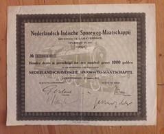 Indonesia : Nederlandsch - Indische Spoorweg Maatschappij - DFl.1000 - 1922 - Railway & Tramway