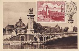 FRANCE - Pont Alexandre III * CITT De 1949 Sur Carte Premier Jour TTB - ....-1949
