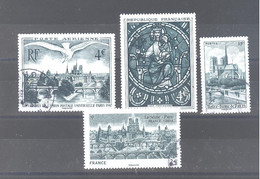 """France Oblitérés : N°5440 à 5443 (les 4 Timbres Issus Du Bloc """"Notre Dame De Paris"""") (RARE) (cachet Rond) - Used Stamps"""