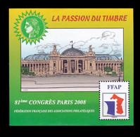 Feuillet Souvenir FFAP Paris 2008 - Sonstige