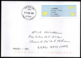 Enveloppe Vignette AP SPID 148 Sodexo La Poste 00200 HUB ARMEES Du 02 04 2021 Nouvelle Oblitération - Cachets Militaires A Partir De 1900 (hors Guerres)