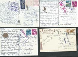 16 Cartes Modernes Pour Puerto La Cruz Avec Cachet 'oficina De Correo'; Pérou, Espagne, Thailande,USA, Japon, Israel, - Venezuela