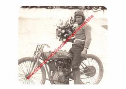 VIIe Olympiade 1920 - Reprokaart - Wereldkampioen Motorsport Edouard Luycken - Harley Davidson - Antwerpen - Antwerpen
