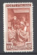 Italia Repubblica 1950 Lavoro 100 £ Sass.651 **/MNH VF/F - 1946-60: Ungebraucht