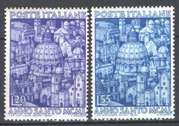 Italia Repubblica 1950 Anno Santo Sass.620/21 **/MNH VF/F - 1946-60: Ungebraucht