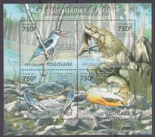 2011Togo4161-4164KLBirds / Crocodile / Crabs12,00 € - Autres