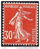 France Semeuse De Roty N°  360 ** Plein Fond Sans Sol Le 30c Rouge Sombre - 1906-38 Semeuse Con Cameo