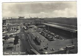 9939 - ROMA STAZIONE TERMINI ANIMATA AUTO CAR AUTOBUS TRAM 1950 CIRCA - Stazione Termini