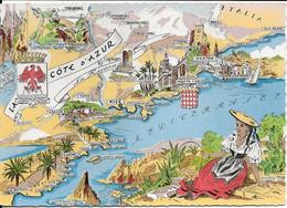 Carte Géographique Côte D'Azur - Zonder Classificatie