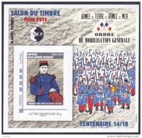 CNEP N°  66 De 2014 - Bloc Autoadhésif - Salon Du Timbre Vincennes - Ordre De Mobilisation - CNEP