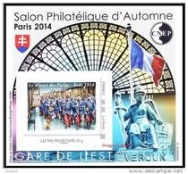 CNEP N°  67 De 2014 - Bloc Autoadhésif - Salon D'Automne à Paris - Départ Des Poilus - CNEP