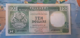 HONGKONG 10 DOLLARS P 191c 1992 UNC - Hong Kong