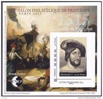 CNEP N°  68 De 2015 - Bloc Autoadhésif - Salon De Printemps à Paris - Royauté - François 1er Roi De France - CNEP