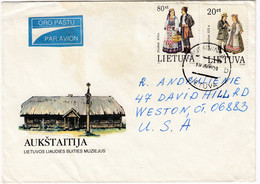 LITHUANIA Cover 1995 Cover Sent To USA National Costumes  #27190 - Litouwen