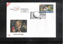Austria / Oesterreich 2003 Table Tennis Werner Schlager FDC - Tenis De Mesa