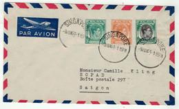 Grande-Bretagne Ex-colonies // Malaya-Singapore, Lettre Pour Saigon - Federation Of Malaya
