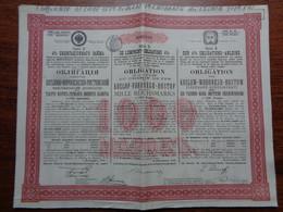 RUSSIE - ST PERSBOURG 1889 - LOT 5 TITRES -  CDF DE KOZLOF-VORONEGE-ROSTOF - OBLIGATION DE 1235 FRS 4% - Unclassified