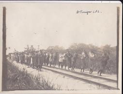 Photo De Particulier Afrique Congo Belge 1911 Ouvriers Du Chemin De Fer Stanleyville Kisangani Sté CFL Réf 4471 - Africa