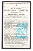 DP Charles Louis Parmentier ° Wervicq-Sud FR Nord 1848 † Wervik BE 1924 X Rosalie Bousse - Devotieprenten