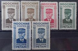 R2452/249 - 1943/1944 - COLONIES FR. - INDOCHINE - N°243 à 248 NEUFS* - Unused Stamps