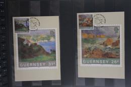 Guernsey, 5 Maximumkarten Gemälde, 1983, Komplett - Guernsey