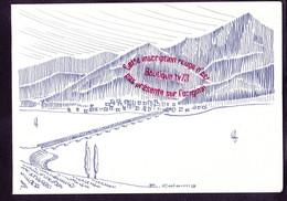 S0203 - Les Amis De La Seyne - Carte D'invitation 1984 - Dessin Retenue De Serre Ponçon à Savines Hautes Alpes - Toulon