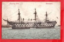 BOSCAWEN    TRIANING SHIP  THREE MASTED  WOODEN SHIP  Pu BARRY 1905 - Veleros