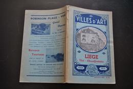 GUIDE COSYN VILLES D'ART LIEGE VISE CHAUDFONTAINE Bains De La Sauvenière Régionalisme Circa 1940 PLAN - Belgique