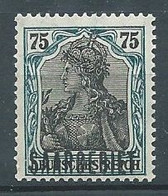 Sarre YT N°45 Germania Surchargé Saargebiet Neuf ** - Ongebruikt