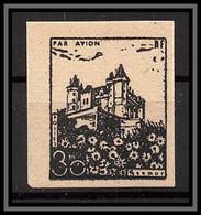 85513/ Grève De Saumur 1953 Essai Non Dentelé Imperf Chateau Castle - Staking
