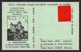 85563/ Maury N°4 Grève De Saumur 1953 Rouge Sur Carte - Staking