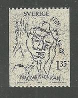 SWEDEN 1982 ELIN WAGNER NOVELIST BIRTH CENTENARY SET MNH - Unused Stamps