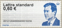 Luxembourg 2012 ATM Grand-Duc Henri Neuf ** - Postage Labels