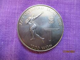 South Korea: 1000 Won 1988 (Olympic Games) Table Tennis - Corée Du Sud