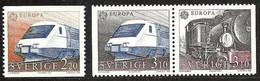 SWEDEN 1988 EUROPA TRAINS SET & BOOKLET VALUE MNH - Unused Stamps