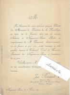 1920 / Nomination D'un Notaire / Just RENAUD / à Nogent-sur-Seine / 10 Aube - Historical Documents