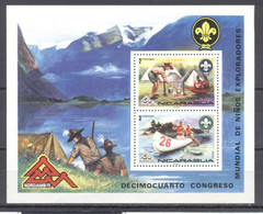 Nicaragua, 1974, HB, Scoutismo , Nuevos - Chile