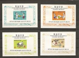Corée Du Sud 1970 - Fables Heungbu And Nolbu - 4 Blocs MNH Non Dentelés - BF 177/80 - Série Complète - Corée Du Sud