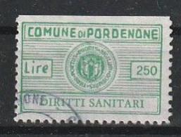 Pordenone. Marca Municipale (marca Comunale) Diritti Sanitari L. 250 - Otros