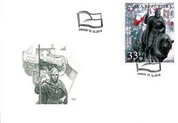 FDC 998 - 9 Czech Rep. WW1 Fight For The Czech Statehood 2018 Masaryk St Wenceslas Heraldic Lion Coat Of Arms - WW1