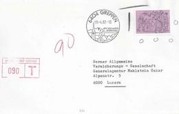 Taxierter Brief  Greppen - Luzern  (Zwischensteg Frankatur)             1982 - Brieven En Documenten
