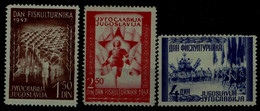 YUGOSLAVIA 1947 SPORT MI No 521-3 MNH VF !! - Ungebraucht
