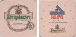 Bierdeckel Quadratisch - Königsbacher 1992 - 2000 J. Koblenz - Sotto-boccale