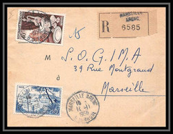 108780 Lettre Recommandé Cover Bouches Du Rhone N°972 Porcelaine Marseille Arenc 1956 - 1921-1960: Periodo Moderno